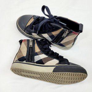 Burberry Kids High Sneakers with Zip